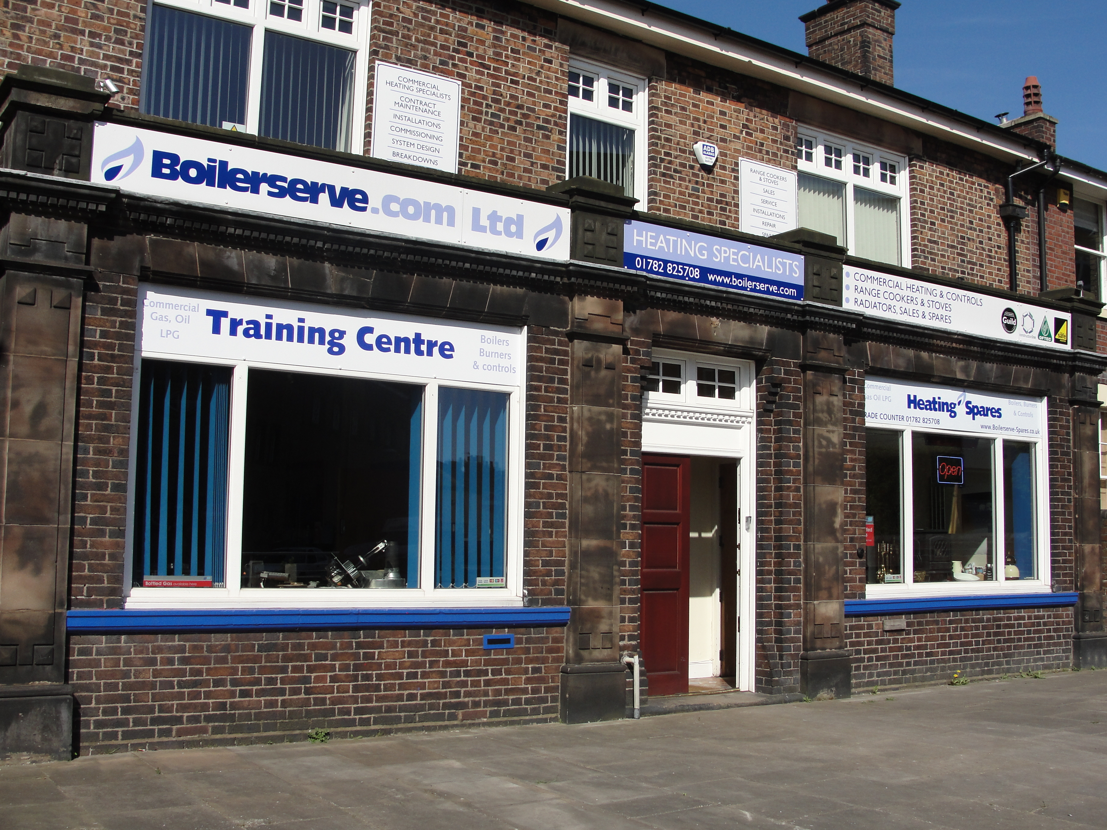 Boilerserve Offices Commercial Heating Engineers & Training Centre .With Sales Counter